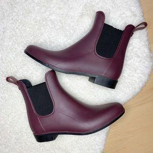 SAM EDELMAN Tinsley Maroon Rain Boot